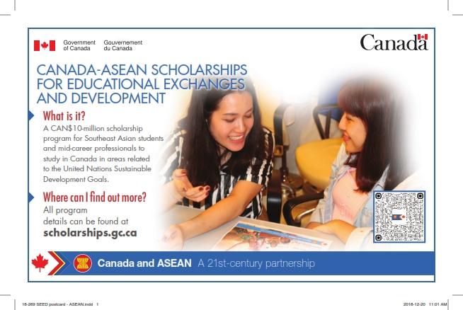 Beasiswa Pertukaran Pendidikan Pembangunan Kanada ASEAN
