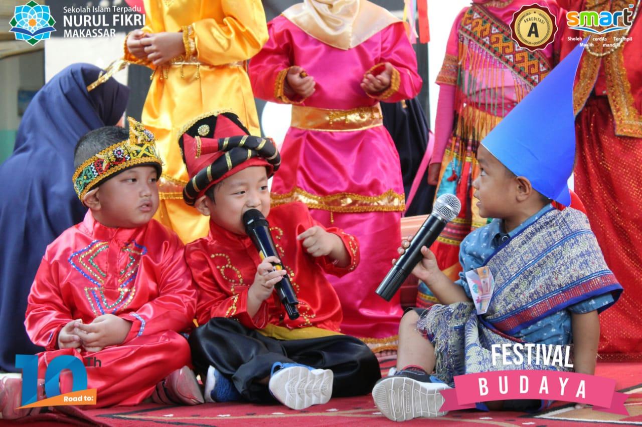 Kenalkan budaya Indonesia KB-TKIT Nurul Fikri Makassar gelar festival budaya