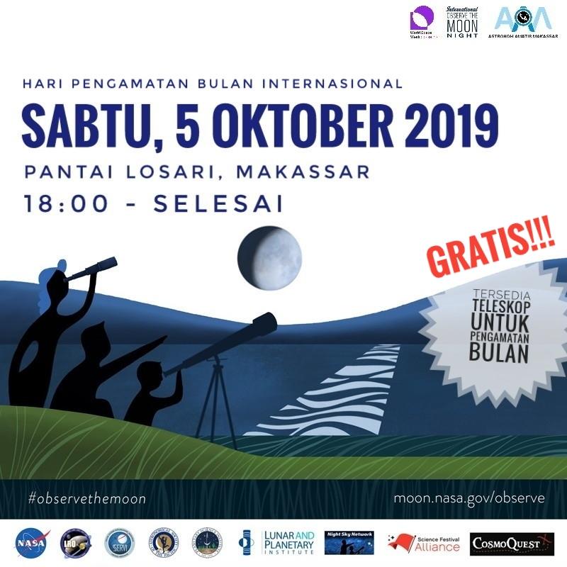 InOMN 2019, Astronom Amatir Makassar ajak masyarakat amati bulan