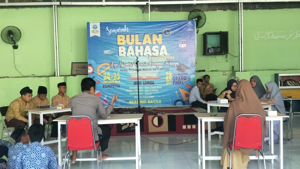 Lomba debat ilmiah meriahkan selebrasi bulan bahasa SMAIT Nurul Fikri Makassar