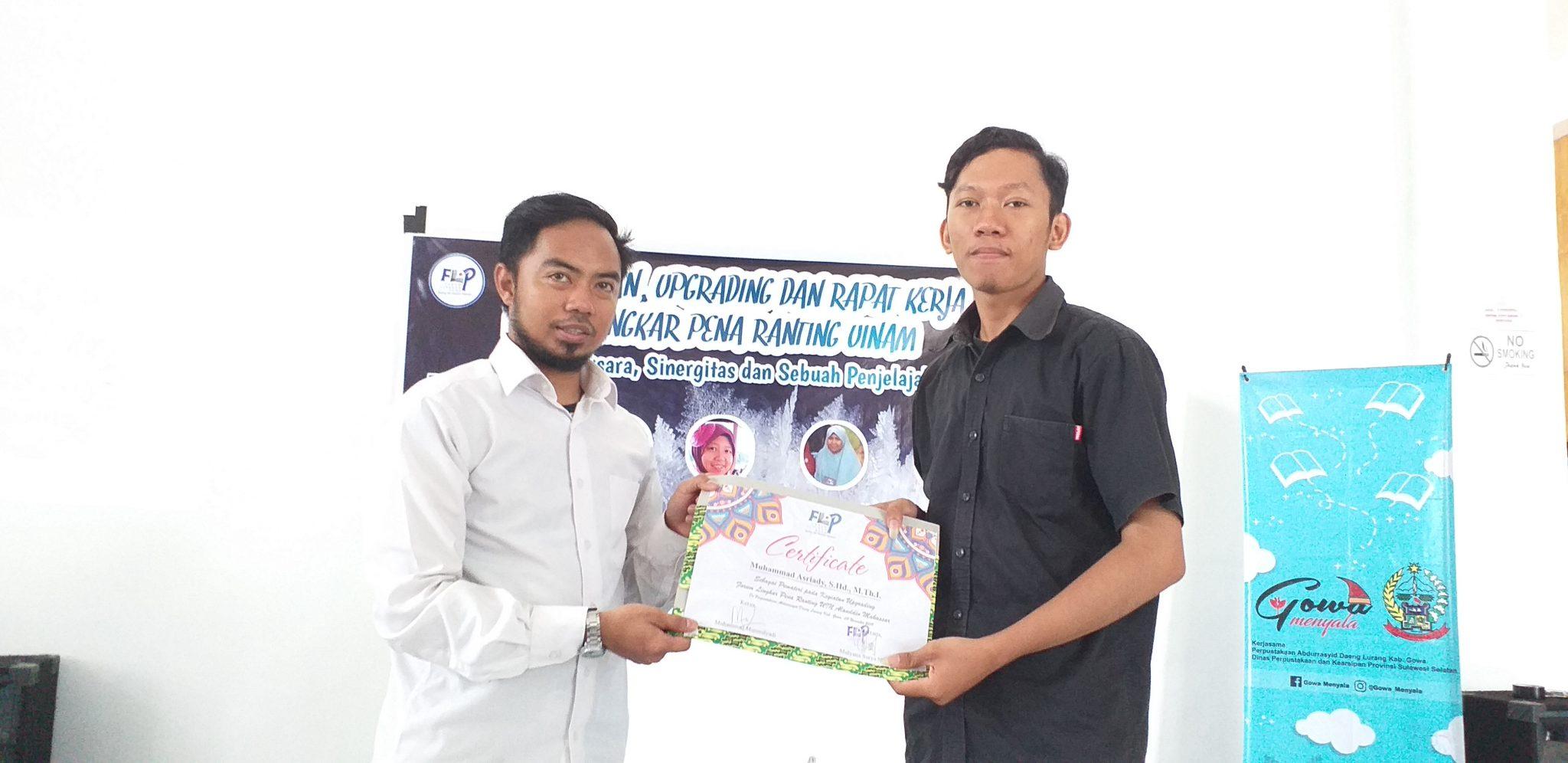 FLP ranting UINAM gelar pelantikan, upgrading dan raker periode 2019-2020