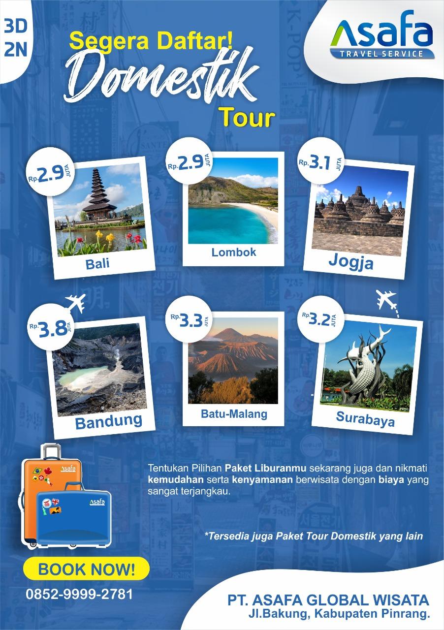 Liburan Biaya Terjangkau dengan Domestik Tour Asafa Travel Service