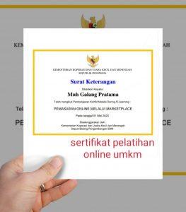 Sertifikat Online UMKM